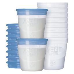 Набор контейнеров для грудного молока 180мл 10шт Avent SCF612/10