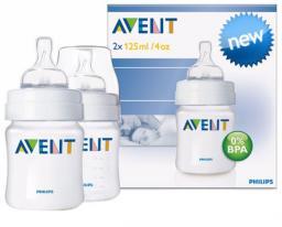 Бутылочка для кормления Avent 125мл 2шт SCF680/27