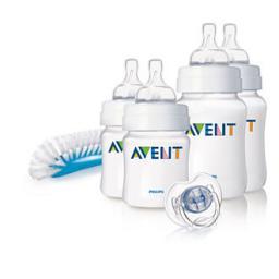 Набор для новорожденных Avent (2x125 мл, 2x260 мл, пустышка, щеточка) SCD271/00