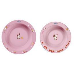 Набор из 2-х глубоких тарелок 6мес+ Avent SCF708/01