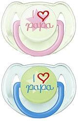 "Пустышка Avent ""I love papa"""