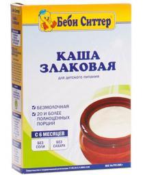 Каша Бэби Ситтер Злаковая c 6 мес, 200 г, б/мол.