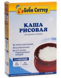 Каша Бэби Ситтер Рисовая c 4 мес, 200 г, б/мол.