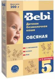 Каша Bebi Овсяная с 5 мес, 200 г, б/мол.