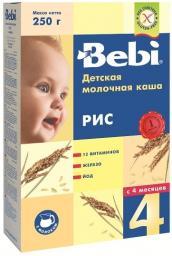 Каша Bebi Рис с 4 мес, 250 г, мол.