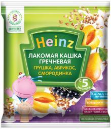 """Каша Heinz """"Лакомая"""" Гречневая с грушей, абрикосом, черной смородиной с 5 мес, 30 г, мол. сашет"""