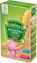 Каша Heinz Многозерновая из 5 злаков с 6 мес, 200 г, б/мол.