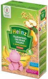 Каша Heinz Пшенично-овсяная с фруктами с 6 мес, 200 г, б/мол.