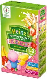 "Каша Heinz ""Любопышки"" йогуртная (банан, клубника) с 12 мес, 200 г, мол."