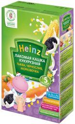 """Каша Heinz """"Лакомая"""" Кукурузная с тыквой, морковкой, черносливом с 5 мес. 200 гр. мол."""