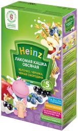 """Каша Heinz """"Лакомая"""" Овсяная с яблоком, черникой, черной смородиной с 5 мес, 200 г, мол."""