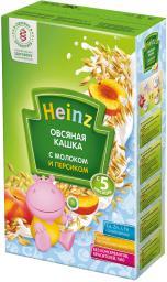 Каша Heinz Овсяная с персиком с 5 мес, 250 г, мол.