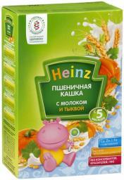 Каша Heinz Пшеничная с тыквой с 5 мес, 250 г, мол