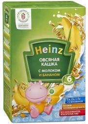 Каша Heinz Овсяная с бананом с 6 мес, 250 г, мол.