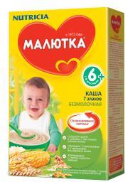 Каша Малютка 7 злаков с 6 мес., 200 г, б/мол.