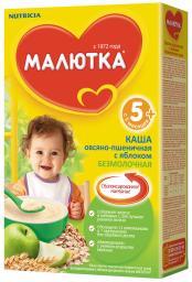 Каша Малютка Овсяно-пшеничная с яблоком с 5 мес, 200 г, б/мол.