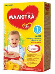 Каша Малютка Гречнево-рисовая с абрикосом с 4 мес, 200 г, мол.