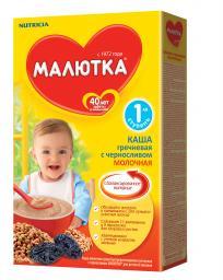 Каша Малютка Гречневая с черносливом с 4 мес, 220 г, мол.