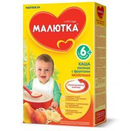 Каша Малютка Овсяная с фруктами с 6 мес, 220 г, мол.