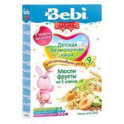 Каша Bebi Premium Мюсли с фруктами с 9 мес. 200 гр. б/мол.