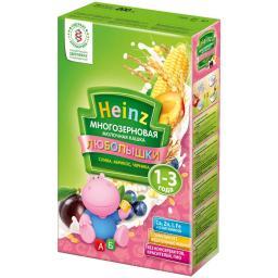 "Каша Heinz ""Любопышки"" молочная (слива, абрикос, черника) с 12 мес, 200 г"
