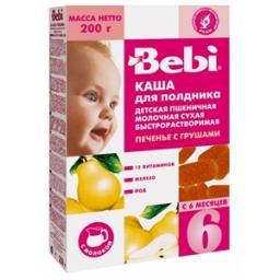 Каша Bebi Пшеница Печенье с грушей с 6 мес, 200 г, мол.