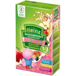 """Каша Heinz """"Любопышки"""" многозерновая фруктово-молочная (яблоко, малина, черная смородина) с 12 мес. 200 гр. мол."""