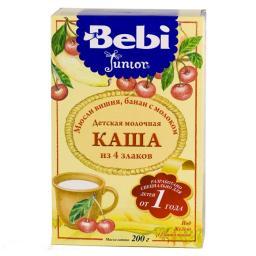 Каша Bebi Junior Мюсли вишня, банан с 12 мес, 200 г, мол.
