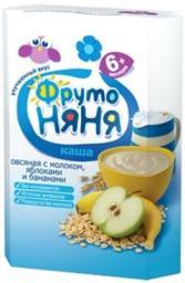 Каша Фрутоняня овсяная с молоком, яблоками и бананами, с 6 мес., 200 г