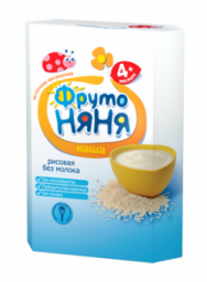 Каша Фрутоняня рисовая с 4 мес, 200 г, б/мол.