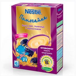Каша Nestle Помогайка Овес, пшеница с черносливом, с 6 мес., 200 г