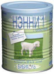 Молочная смесь Нэнни 1 с пребиотиками на основе козьего молока с рождения, 400 г