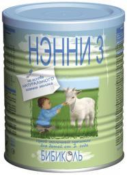 Молочная смесь Нэнни 3 на основе козьего молока с 1 года, 400 г