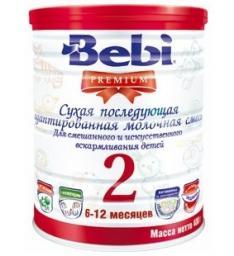Молочная смесь Bebi Premium 2 с 6 мес, 400 г