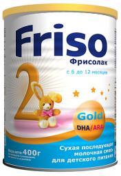 Молочная смесь Friso Фрисолак 2 Gold с 6 мес, 400 г