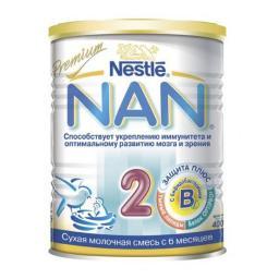 Молочная смесь Nestle NAN 2 Premium с 6 мес, 400 г