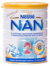 Молочная смесь Nestle NAN 2 Premium с 6 мес, 800 г