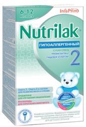 Молочная смесь Nutrilak Гипоаллергенный 2 с 6 мес, 350 г