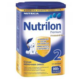 Молочная смесь Nutrilon Premium 2 с 6 мес, 900 г