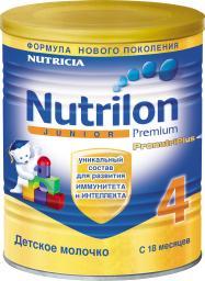 Молочная смесь Nutrilon Молочко Junior 4 с 18 мес, 400 г