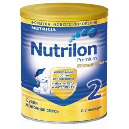 Молочная смесь Nutrilon Premium 2 с 6 мес, 400 г