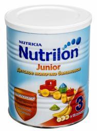 Молочная смесь Nutrilon Молочко Junior 3 со вкусом банана с 12 мес, 400 г