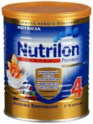 Молочная смесь Nutrilon Молочко Junior 4 со вкусом ванили с 18 мес, 400 г