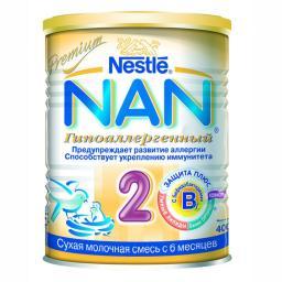 Молочная смесь Nestle NAN 2 Гипоаллергенный с 6 мес, 400 г