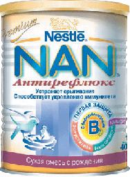 Молочная смесь Nestle NAN 1 AR (антирефлюкс), с рождения, 400 г