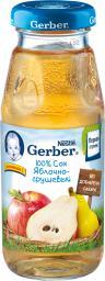 Сок Gerber Яблоко с грушей осветленный с 4 мес, 175 мл, б/сах.