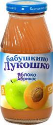 Сок Бабушкино лукошко Яблоко с абрикосом с мякотью с 5 мес, 200 мл, б/сах.