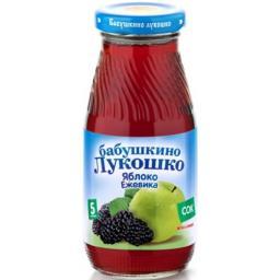 Сок Бабушкино лукошко Яблоко с ежевикой осветленный с 5 мес, 200 мл, б/сах.