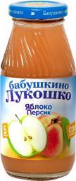 Сок Бабушкино лукошко Яблоко с персиком с мякотью с 5 мес, 200 мл, б/сах.