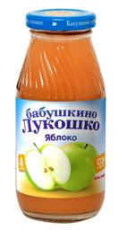 Сок Бабушкино лукошко Яблоко с мякотью с 4 мес, 200 мл, б/сах.